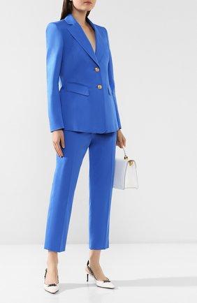 Женский хлопковый жакет ESCADA голубого цвета, арт. 5031931   Фото 2