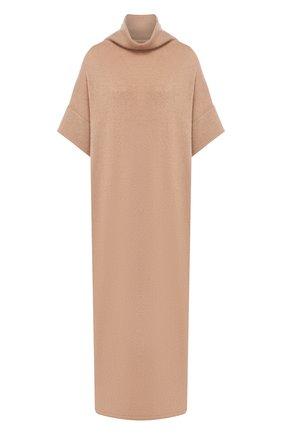 Женское платье из смеси кашемира и шелка THE ROW бежевого цвета, арт. 4836Y382 | Фото 1