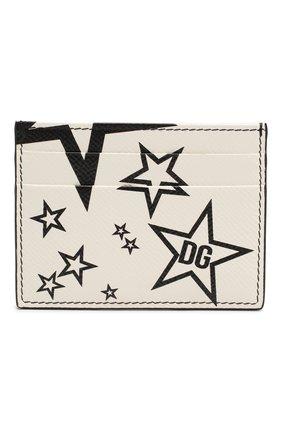 Мужской кожаный футляр для кредитных карт DOLCE & GABBANA черно-белого цвета, арт. BP0330/AK443 | Фото 1