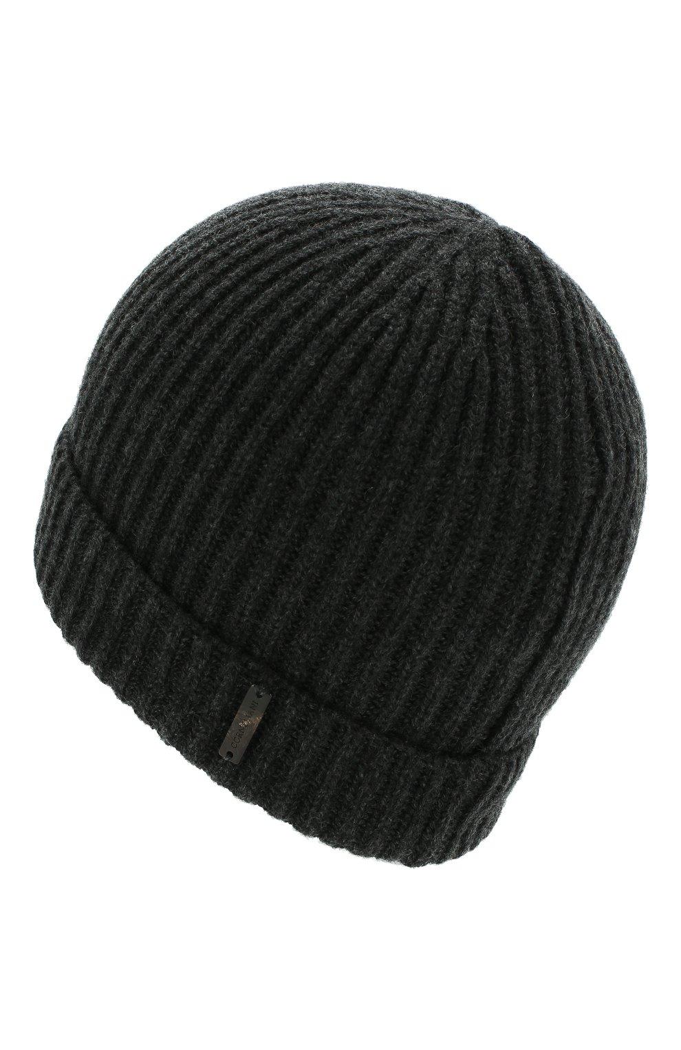Мужская кашемировая шапка CORNELIANI темно-серого цвета, арт. 000316-0025185/00 | Фото 2