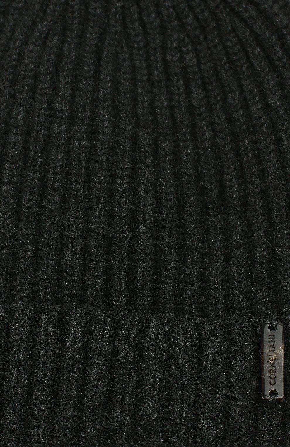 Мужская кашемировая шапка CORNELIANI темно-серого цвета, арт. 000316-0025185/00 | Фото 3