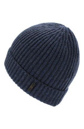 Мужская кашемировая шапка CORNELIANI синего цвета, арт. 000316-0025185/00 | Фото 2