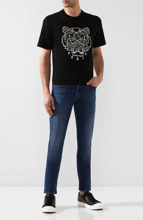 Мужские джинсы 7 FOR ALL MANKIND темно-синего цвета, арт. JSMXA230BD | Фото 2
