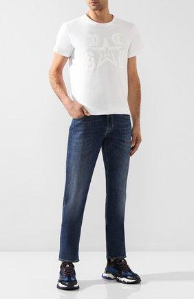 Мужские джинсы 7 FOR ALL MANKIND синего цвета, арт. JSSCU250MX | Фото 2
