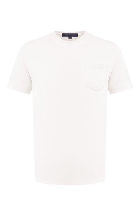 Мужская хлопковая футболка RALPH LAUREN белого цвета, арт. 790769541 | Фото 1