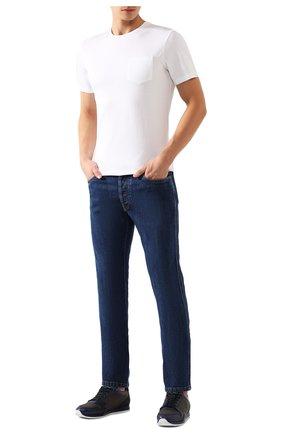 Мужская хлопковая футболка RALPH LAUREN белого цвета, арт. 790769541 | Фото 2