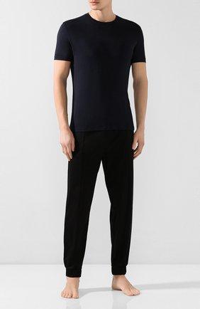 Мужские футболка из вискозы BLUEMINT темно-синего цвета, арт. ATIL | Фото 2