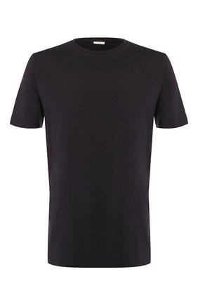 Мужские хлопковая футболка BLUEMINT темно-синего цвета, арт. EDWARD | Фото 1