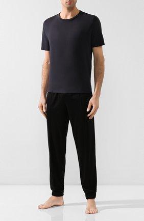 Мужские хлопковая футболка BLUEMINT темно-синего цвета, арт. EDWARD | Фото 2