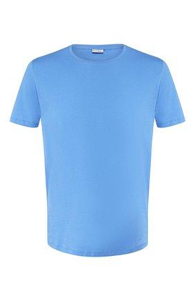 Мужские хлопковая футболка BLUEMINT голубого цвета, арт. EDWARD | Фото 1