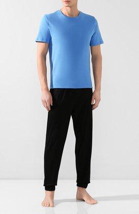 Мужские хлопковая футболка BLUEMINT голубого цвета, арт. EDWARD | Фото 2
