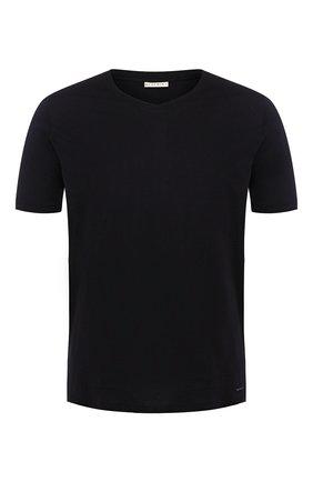 Мужские хлопковая футболка BLUEMINT темно-синего цвета, арт. ELVIS | Фото 1