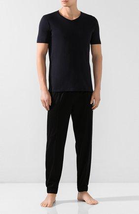 Мужские хлопковая футболка BLUEMINT темно-синего цвета, арт. ELVIS | Фото 2