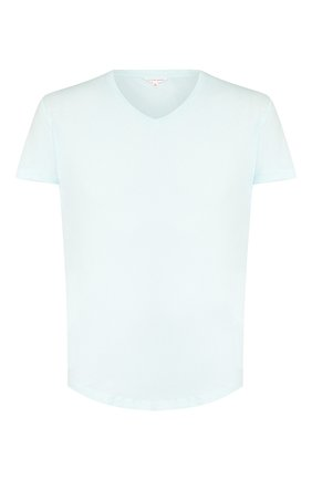 Мужская хлопковая футболка ORLEBAR BROWN светло-голубого цвета, арт. 270179 | Фото 1