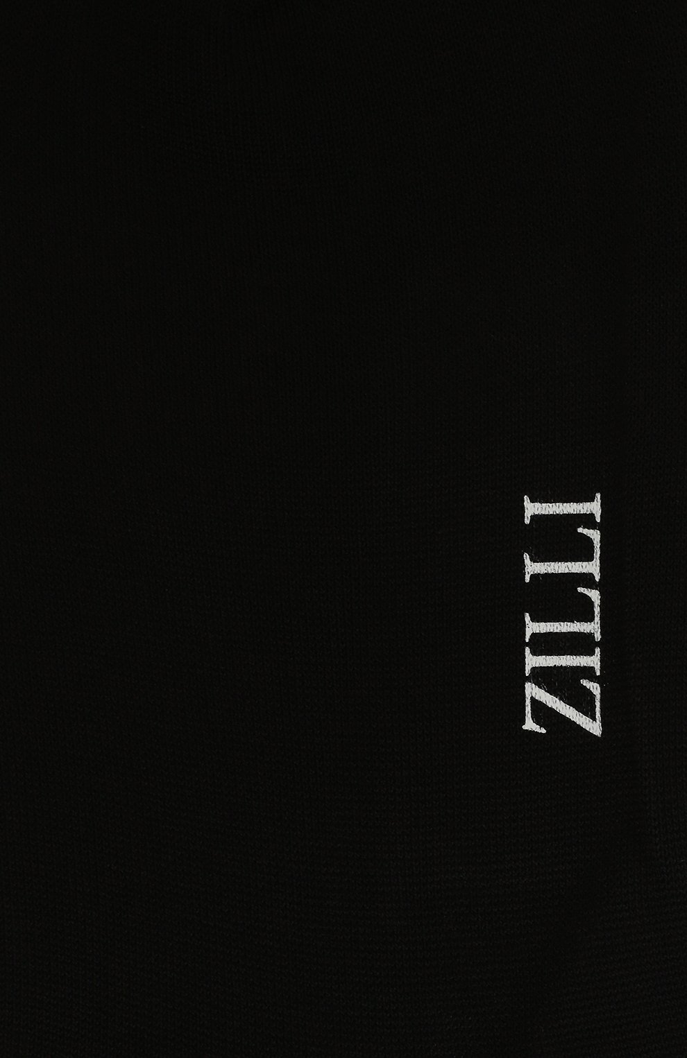 Мужские хлопковые носки ZILLI черного цвета, арт. MGQ-BJACZ-C0T0N/CPZ1   Фото 2