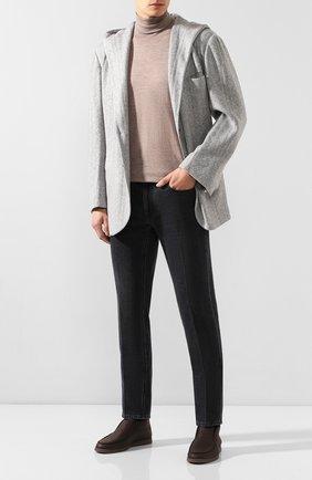Мужской кашемировый пиджак KNT серого цвета, арт. UGS0104K01S78 | Фото 2