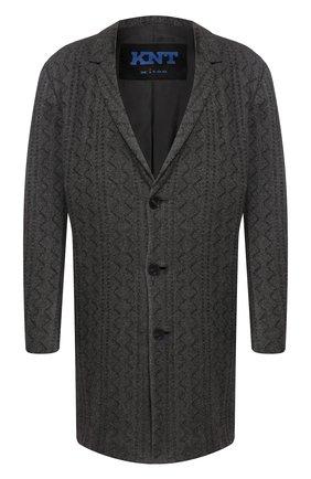 Мужской кашемировое пальто KNT темно-серого цвета, арт. USP0101K01S78 | Фото 1