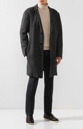 Мужской кашемировое пальто KNT темно-серого цвета, арт. USP0101K01S78 | Фото 2