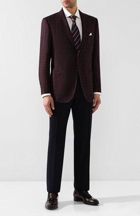 Мужской пиджак из смеси шерсти и кашемира KITON бордового цвета, арт. UG81K01S56 | Фото 2