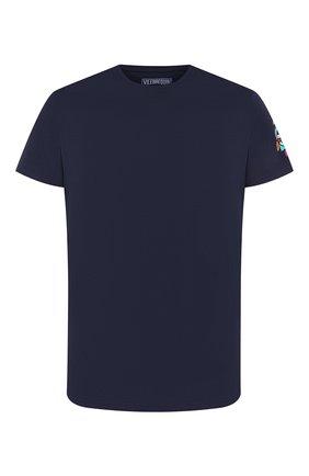 Мужская хлопковая футболка VILEBREQUIN темно-синего цвета, арт. TAOC0P03 | Фото 1