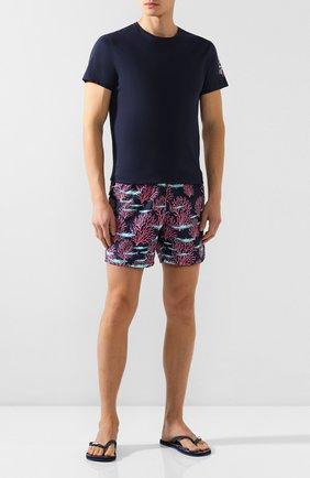 Мужская хлопковая футболка VILEBREQUIN темно-синего цвета, арт. TAOC0P03 | Фото 2