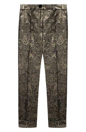 Детского жаккардовые брюки DOLCE & GABBANA золотого цвета, арт. L52P61/HJMA4/2-6 | Фото 1