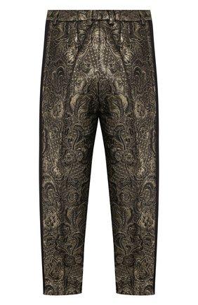 Детского жаккардовые брюки DOLCE & GABBANA золотого цвета, арт. L52P61/HJMA4/2-6 | Фото 2