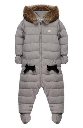 Детского утепленный комбинезон TARTINE ET CHOCOLAT серого цвета, арт. TP46051/18M-3A | Фото 1