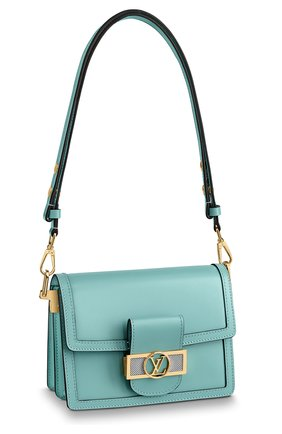 Женская сумка dauphine lugano mini LOUIS VUITTON бирюзового цвета, арт. M55837 | Фото 1