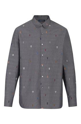 Мужская хлопковая рубашка dna LOUIS VUITTON серого цвета, арт. 1A5VZY | Фото 1