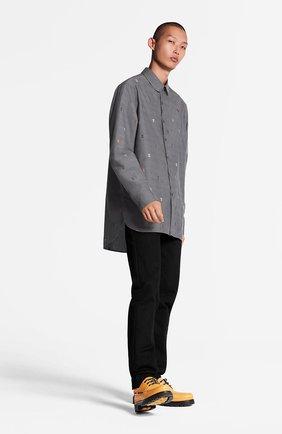 Мужская хлопковая рубашка dna LOUIS VUITTON серого цвета, арт. 1A5VZY | Фото 2