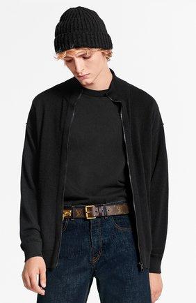 Мужской кашемировый кардиган inside out LOUIS VUITTON черного цвета, арт. 1A5V7F   Фото 3 (Мужское Кросс-КТ: Кардиган-одежда; Материал внешний: Шерсть, Кашемир; Стили: Кэжуэл)