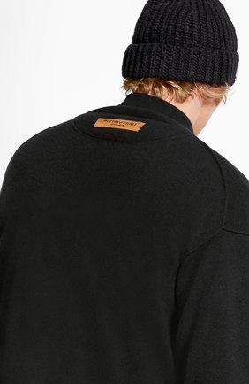 Мужской кашемировый кардиган inside out LOUIS VUITTON черного цвета, арт. 1A5V7F   Фото 4 (Мужское Кросс-КТ: Кардиган-одежда; Материал внешний: Шерсть, Кашемир; Стили: Кэжуэл)