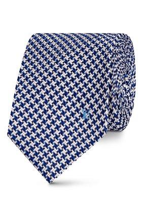 Мужской шелковый галстук lv rebound LOUIS VUITTON темно-синего цвета, арт. M76004 | Фото 1