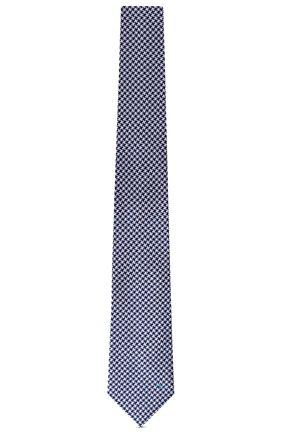 Мужской шелковый галстук lv rebound LOUIS VUITTON темно-синего цвета, арт. M76004 | Фото 2