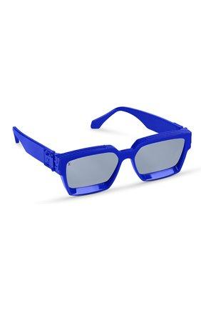 Мужские солнцезащитные очки 1.1 millionaires LOUIS VUITTON синего цвета, арт. Z1276W | Фото 1