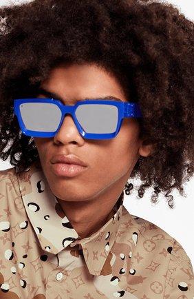 Мужские солнцезащитные очки 1.1 millionaires LOUIS VUITTON синего цвета, арт. Z1276W | Фото 2