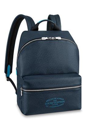 Мужской кожаный рюкзак discovery pm LOUIS VUITTON темно-синего цвета, арт. M30359 | Фото 1