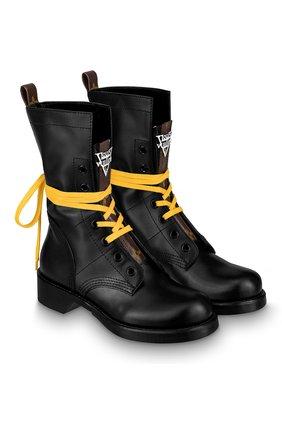 Женские кожаные ботинки metropolis LOUIS VUITTON черного цвета, арт. 1A64V6 | Фото 1