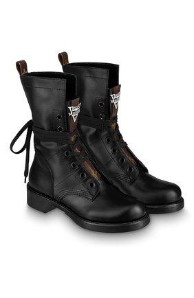 Женские кожаные ботинки metropolis LOUIS VUITTON черного цвета, арт. 1A64V6 | Фото 2