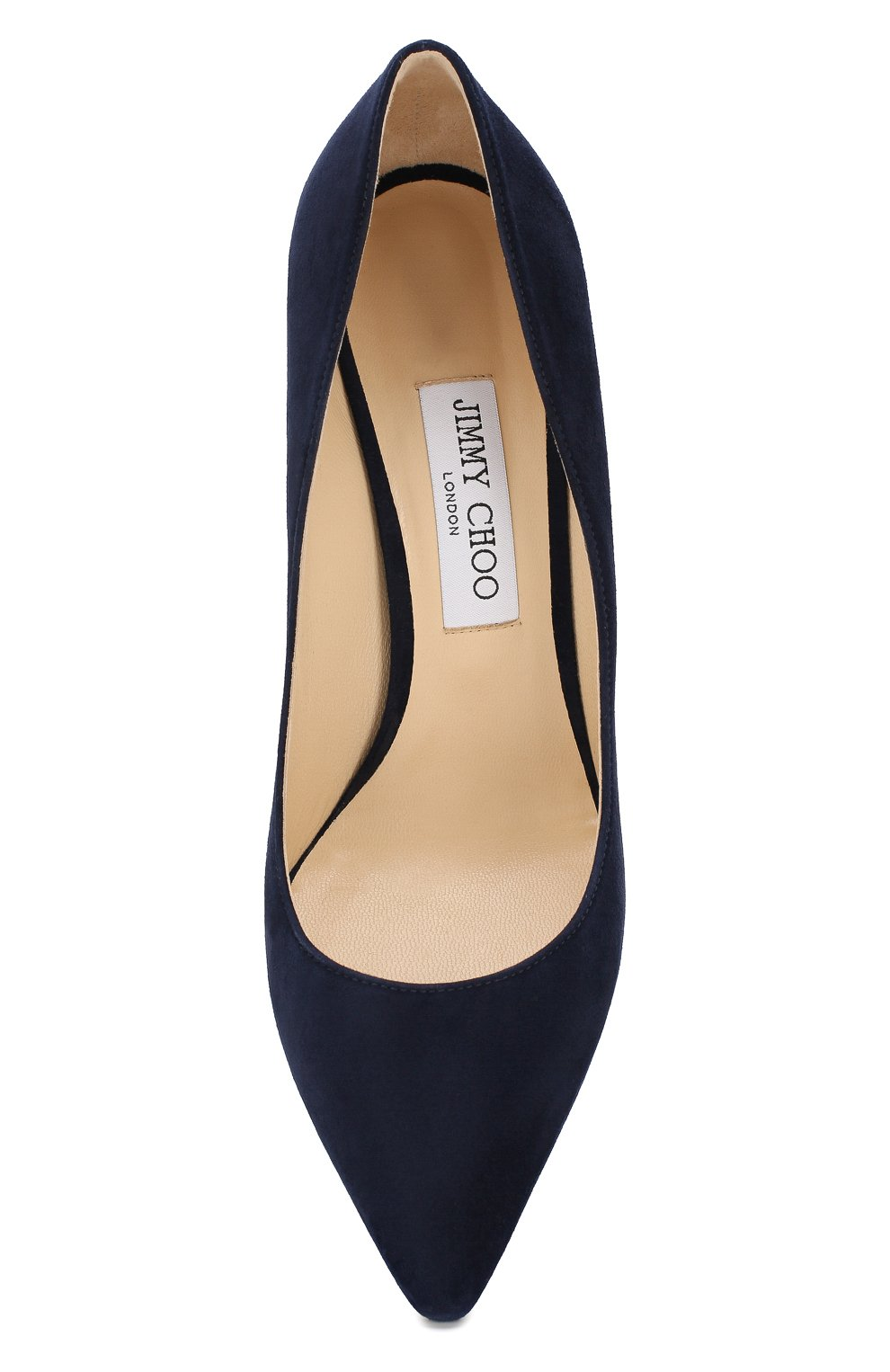 Женские замшевые туфли romy 85 JIMMY CHOO темно-синего цвета, арт. R0MY 85/SUE | Фото 5