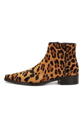 Женские кожаные ботинки zanzara DOLCE & GABBANA леопардового цвета, арт. CT0583/AI533 | Фото 3