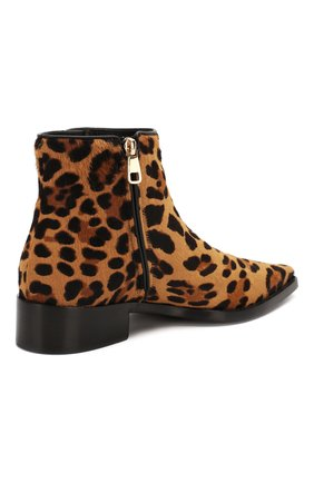 Женские кожаные ботинки zanzara DOLCE & GABBANA леопардового цвета, арт. CT0583/AI533 | Фото 4