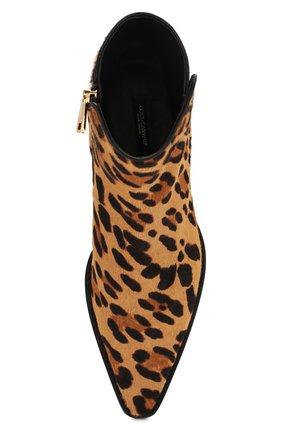 Женские кожаные ботинки zanzara DOLCE & GABBANA леопардового цвета, арт. CT0583/AI533 | Фото 5