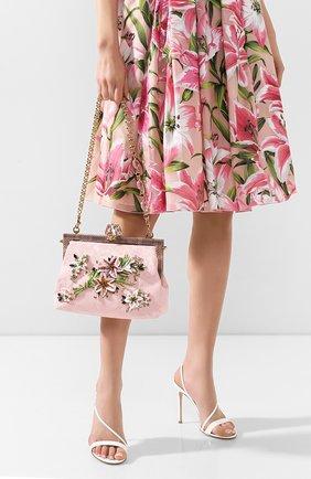 Женский сумка vanda DOLCE & GABBANA розового цвета, арт. BB5843/AA759   Фото 2