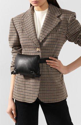Женская поясная сумка tao NANUSHKA черного цвета, арт. TA0 BELT_BLACK_ALTER NAPPA | Фото 2