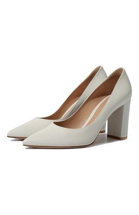 Женские кожаные туфли piper 85 GIANVITO ROSSI белого цвета, арт. G21375.85RIC.VGIBIAN | Фото 1