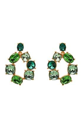 Женские серьги OSCAR DE LA RENTA зеленого цвета, арт. R20J128GRM | Фото 1