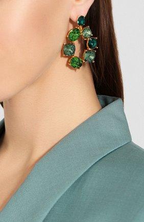 Женские серьги OSCAR DE LA RENTA зеленого цвета, арт. R20J128GRM | Фото 2
