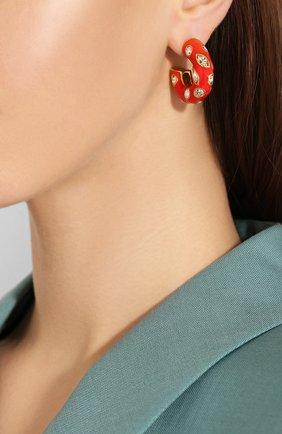 Женские серьги OSCAR DE LA RENTA красного цвета, арт. R20J193P0P | Фото 2